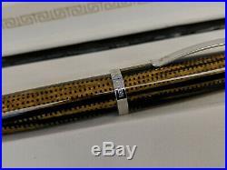 OMAS Bologna Burkina Celluloid Sterling Silver 925 Trim 18K Nib Fountain Pen