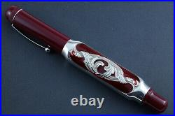 OMAS Burgundy Sterling Silver Doctors Limited Edition Fountain Pen 028/100
