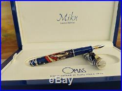 OMAS Miku Enamel & Sterling Silver 925 Limited Edition Fountain Pen