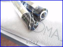 Omas Bologna Certified Edition Swirl 925 Sterling Silver Body Fountain Pen