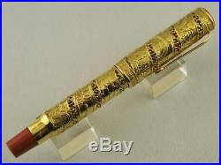 Omas Jerusalem 3000 Set 18k Solid Gold And Sterling Silver Fountain Pens