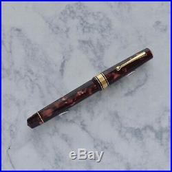Omas Paragon Scarlet Red Celluloid 1992 Vermeil Trim Fountain Pen 18k Fine F Nib