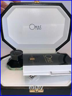 Omas Paragon Sterling Fountain Pen with Ink Bottle. Brand New Never Used. Vintage