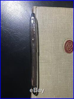 Omas Sterling Silver Ogiva Guilloche S2001 Fountain Pen M Nib