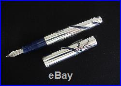 Omas Unicef Sterling Silver 925 Limited 083/300 Broad Pt Fountain Pen New In Box