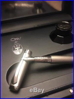 Omas for Maserati LE Sterling Silver Fountain Pen # 033/1200 Never Used
