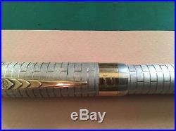Onoto Churchill Sterling Silver Fountain Pen- Broad Nib