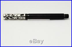 Onoto Heritage Limited Edition 100 Sterling Silver Filigree Fountain Pen 18C M