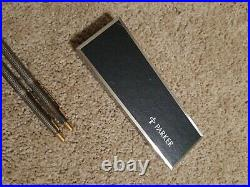 PARKER 75 Classic Sterling Silver Ballpoint Pen & Pencil Set in Box
