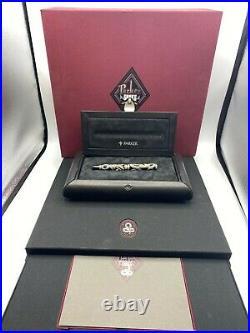PARKER SNAKE Fountain Pen Sterling Silver Emeralds 18K Med nib Year 1997 NEW