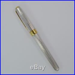 PARKER SONNET FOUGERE Sterling Silver Fountain Pen with 18K Fine Nib FRANCE