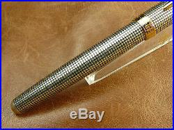 PARKER SONNET STERLING SILVER CISELE FOUNTAIN PEN With 18K F NIB BRAND NEW With BOX