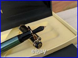 PELIKAN Souveran M650 Green / Vermeil (GP Sterling Silver 925) Fountain Pen