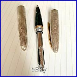 PILOT Old Elite Sterling Silver Fountain Pen18K Vintage Rare