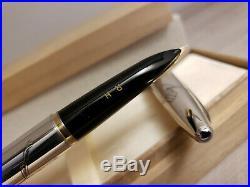 PILOT Sterling Silver Fine 18K Gold Nib Fountain Pen, MINT
