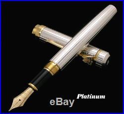 PLATINUM Sterling Silver 925 Tankin Technique GOLD 18K Nib Fountain Pen