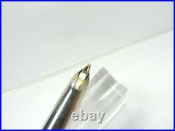 Parker 51 Brad Torelli Custom Sterling Silver Double Jewel Fountain Pen Bb Nib