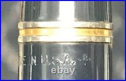 Parker 51 Fountain Pen Sterling Cap Scarce 1 Line 1942 1st Quarter Imprint Clean