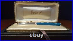 Parker 51 Special Edition 2002 Vista Blue Fine Gold Pt. Fountain Pen New with Box