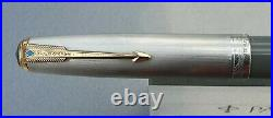 Parker 51 Vacumatic 1946 DOUBLE JEWEL DOVE GREY SET STERLING SILVER CP RESTORED