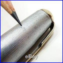 Parker 51 vacumatic fountain pen sterling silver cap vintage