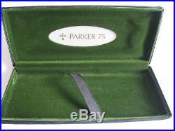Parker 75 Cisele Fountain Pen, Sterling silver, Fine 14ct nib, Boxed & Serviced