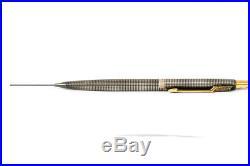 Parker 75 Cisele STERLING SILVER Fountain Pen and Pencil Set 14K GOLD nib Ciselé