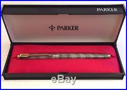 Parker 75 Cisele Sterling Silver 0 Collar Flat Tassie Med 14K Nib Excellent