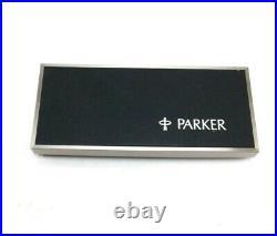 Parker 75 Cisele Sterling Silver Fountain Pen & Led Pencil Blue Velvet Gold Set