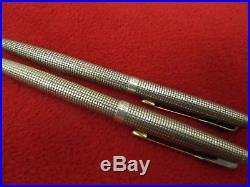 Parker 75 Classic Sterling Silver Ball Pen & 9 mm Pencil Set Pre-owned Good