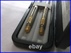 Parker 75 Classic Sterling Silver Ballpoint Pen &. 5 Pencil Set New In Box USA