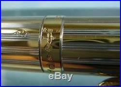 Parker 75 Florence Sterling Silver Vermeil Fountain Pen, 18k Gold Fine Nib