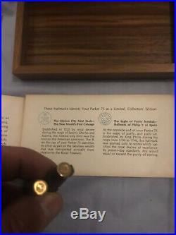Parker 75 SPANISH SUNKEN TREASURE 1715 Fleet Fountain Pen Gold Sterling Silver