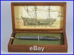 Parker 75 Spanish Treasure Fleet Sterling Silver Fountain Pen w 14k Gold Nib