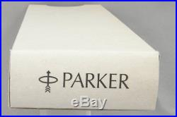 Parker 75 Sterling Silver Cisele Fountain Pen in Box 1970's 14kt M Nib USA