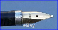 Parker 75 Sterling Silver Cisele Fp Med Stub Nib(70) Flat Tassies Converter Case
