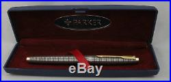 Parker 75 Sterling Silver Cisele & Gold Rollerball Pen in Box 1986 France
