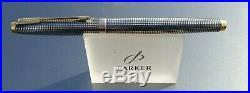 Parker 75 Sterling Silver Cisele Triple Set Medium Nib Converter Case Serviced