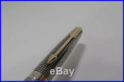 Parker 75 Sterling Silver cisele fountain pen nib 14K 1970s Vintage Retro