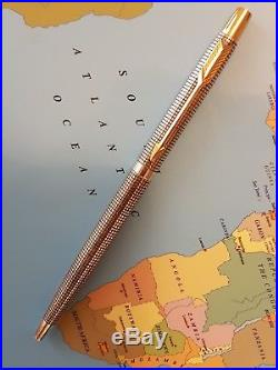 Parker 75 ballpoint pen solid sterling silver with gold trim NEAR MINT