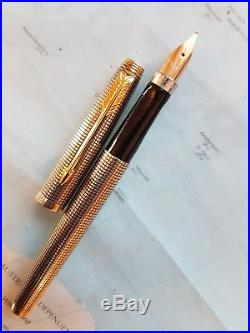 Parker 75 fountain pen solid sterling silver &14k solid gold nib EXCELLENT CONDI