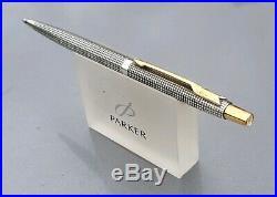 Parker Classic Sterling Silver Cisele Ballpoint Pen Black Refill Case Mint New