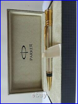 Parker Duofold Ballpoint Pen Sterling Silver New In Box Very Rare Pen