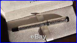 Parker Duofold Esparto Sterling Silver, 18Ct M Nib