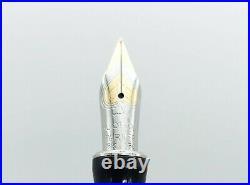 Parker Duofold International Sterling Silver Godron Fountain Pen 18k Fine Nib