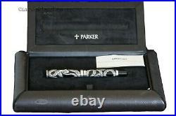 Parker Duofold Silver Serpent Emerald Eyes Fountain Pen LE 500 pieces 1997