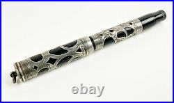 Parker Lucky Curve Sterling silver overlay fountain pen Antique vintage 1905 pat