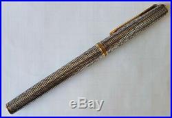 Parker Premier Sterling Silver Fountain Pen, 18K M Nib, France, in Box