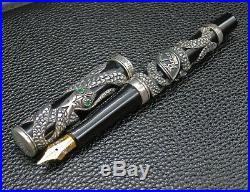 Parker Snake Limited Edition Fountain Pen Sterling Silver Near MINT Condition