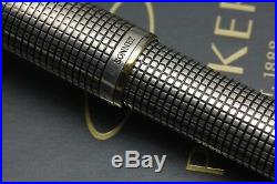 Parker Sonnet Cisele Sterling Silver GT Fountain Pen Early Design